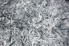 Texture of ice of Baikal in winter. A variety of ice cover of lake Baikal is represented by an abstract image is always unique in its beauty Royalty Free Stock Photography