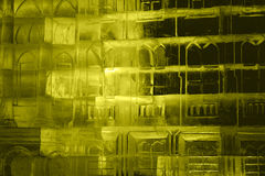 Texture ice. with colorful illumination Royalty Free Stock Photos