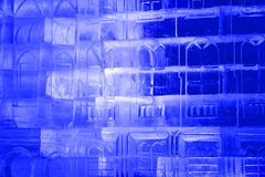 Texture ice. with colorful illumination Stock Photos