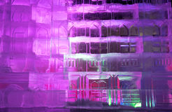 Texture ice. with colorful illumination Stock Photos