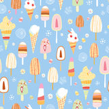 The texture of ice cream Stock Photos
