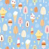 The texture of ice cream Stock Photos