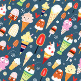 Texture of ice cream Stock Photos