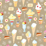 The texture of ice cream and cake Royalty Free Stock Photography