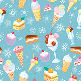 The texture of ice cream and flakes Royalty Free Stock Images