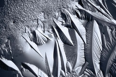 Texture of ice, frozen water Stock Photos