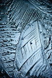 Texture of ice, frozen water natural  ice Royalty Free Stock Photography