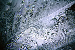 Texture of ice, frozen water Stock Photography