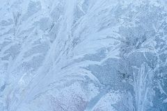 Texture with ice frozen on window Stock Images
