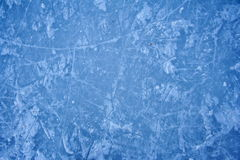 Texture of ice skating rink outdoors. With snow Royalty Free Stock Image