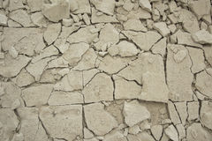 texture image of cracked concrete floor Royalty Free Stock Images