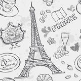 Texture with the image of the Eiffel Tower Royalty Free Stock Photography