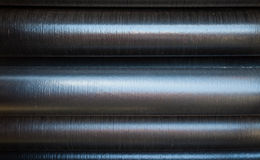 Texture industrielle de tuyau empilé Photos libres de droits