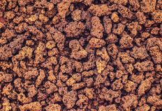 Texture of instant coffee powder, macro photography, Java stock photography