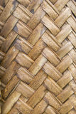 Texture of interweaving brown palm leaves Stock Image