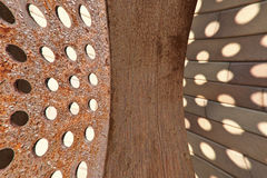 Texture of iron. The tecture of the rusted iron Royalty Free Stock Images