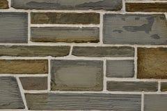 Texture irrégulière de plan rapproché de mur de briques de schiste Photo libre de droits