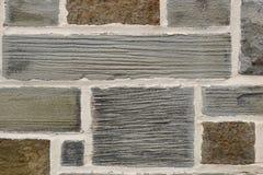 Texture irrégulière de plan rapproché de mur de briques de schiste Image libre de droits