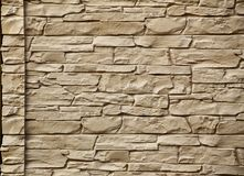 Texture of an irregular fieldstone wall with edge.  Royalty Free Stock Photography