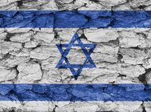 Texture of Israel flag. Texture of the Flag of Israel on a decorative tree bark Royalty Free Stock Image