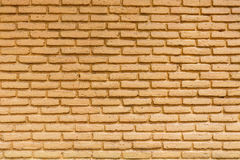 Texture jaune de mur de briques Photo libre de droits