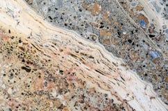 Texture jaune de roche Photos libres de droits