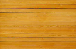 Texture jaune en bois de planche Photographie stock libre de droits