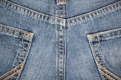 Texture Jean with seam Royalty Free Stock Photography