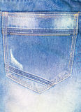 Texture of jeans back view Royalty Free Stock Photography