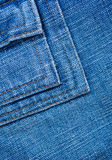 Texture of jeans, stitching on the pants closeup Stock Photography
