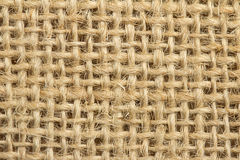 Texture of a jute fabric Stock Photography