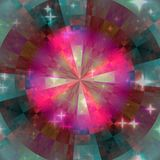 Texture kaleidoscop with light. Green, red and purple stock illustration