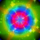Texture kaleidoscop light with more color. Green, red, blue stock illustration