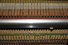 Keys of old piano royalty free stock images