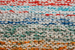 Texture of a knitted cloth Stock Photos
