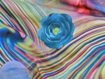 Texture of knitted fabric with colorful ornament Stock Photos