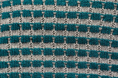 Texture of knitted garments of gray and blue Royalty Free Stock Images