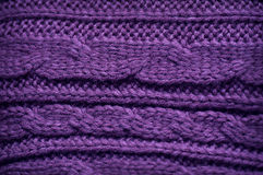Texture of knitted garments purple Royalty Free Stock Images