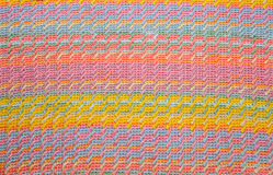 Texture knitted with knitting needles. Striped Royalty Free Stock Image
