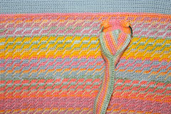 Texture knitted with knitting needles. Striped Royalty Free Stock Photo