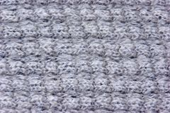The texture of a knitted wool gray. Background royalty free stock images