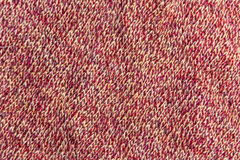 The texture of knitted wool pink and beige Stock Images