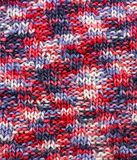 Texture knitted woolen fabric Stock Image