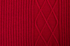 Texture of knitted woolen fabric Royalty Free Stock Photos