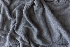 Texture of knitted woolen fabric for wallpaper and an abstract background royalty free stock image