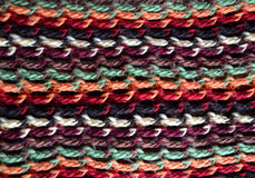 Texture of knitting wool Royalty Free Stock Images