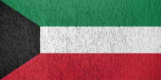 Texture of Kuwait flag royalty free stock images