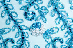 Texture lace. a fine open fabric,. Typically one of cotton or silk, made by looping, twisting, or knitting thread in patterns and used especially for trimming Stock Images