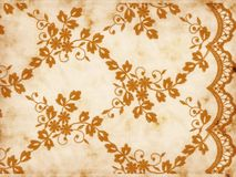 Texture with lace and floral ornament Stock Images
