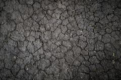 Texture of land dried up by drought, the ground cracks background with grunge stock image